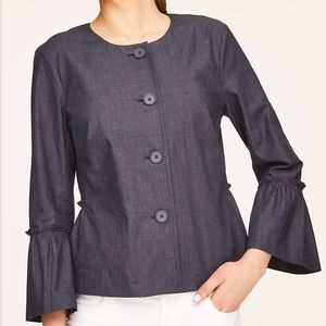 Small Loft Outlet Denim Bell Sleeve Jacket NWT